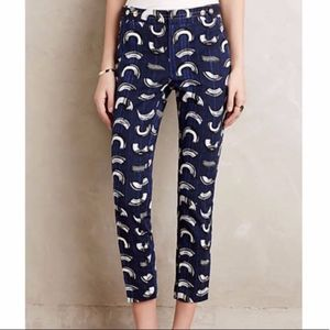 Anthropologie trousers ankle 4p lattice